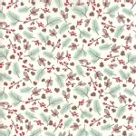 Moda Fabrics - Return Winters Lane - Berries Toss in Snow Mint