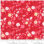 Moda Fabrics - Walk In The Woods - Small Florals in Red