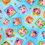 Quilting Treasures - Lalaloopsy - Toss Doll Blocks in Blue