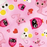 Quilting Treasures - Lalaloopsy - Animal Toss in Pink