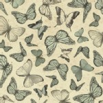 Quilting Treasures - Mirabelle - Butterflies in Sage