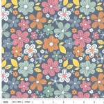 Riley Blake Designs - A Beautiful Thing - Beautiful Main Floral in Navy