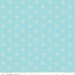 Riley Blake Designs - Bluebirds On Roses - Circle in Aqua