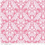 Riley Blake Designs - Hollywood - Sparkle Damask in Hot Pink