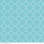 Riley Blake Designs - Hollywood - Sparkle Quartrefoil in Aqua