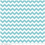 Riley Blake Designs - Knit Basics - Chevron in Aqua