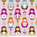Riley Blake Designs - Little Matryoshka - Main in Purple