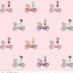 Riley Blake Designs - Vintage Market - Bike Ride in Pink