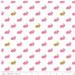 Riley Blake Designs - Wonderland - Rabbit in Pink