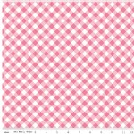 Riley Blake Designs - Wonderland - Gingham in Pink