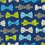 Robert Kaufman Fabrics - Fox and The Houndstooth - Bow Tie in Navy