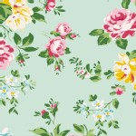 Tilda Fabrics - Apple Butter - Shirly in Teal