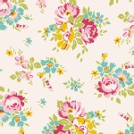 Tilda Fabrics - Apple Butter - Sue in White