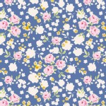 Tilda Fabrics - Apple Butter - Bonnie in Blue