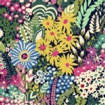 Windham Fabrics - Butterfly Dance - Florals in Navy