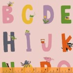 Windham Fabrics - Kinder - Alphabet in Pink