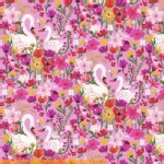 Windham Fabrics - Windham Collection - Swans in Pink